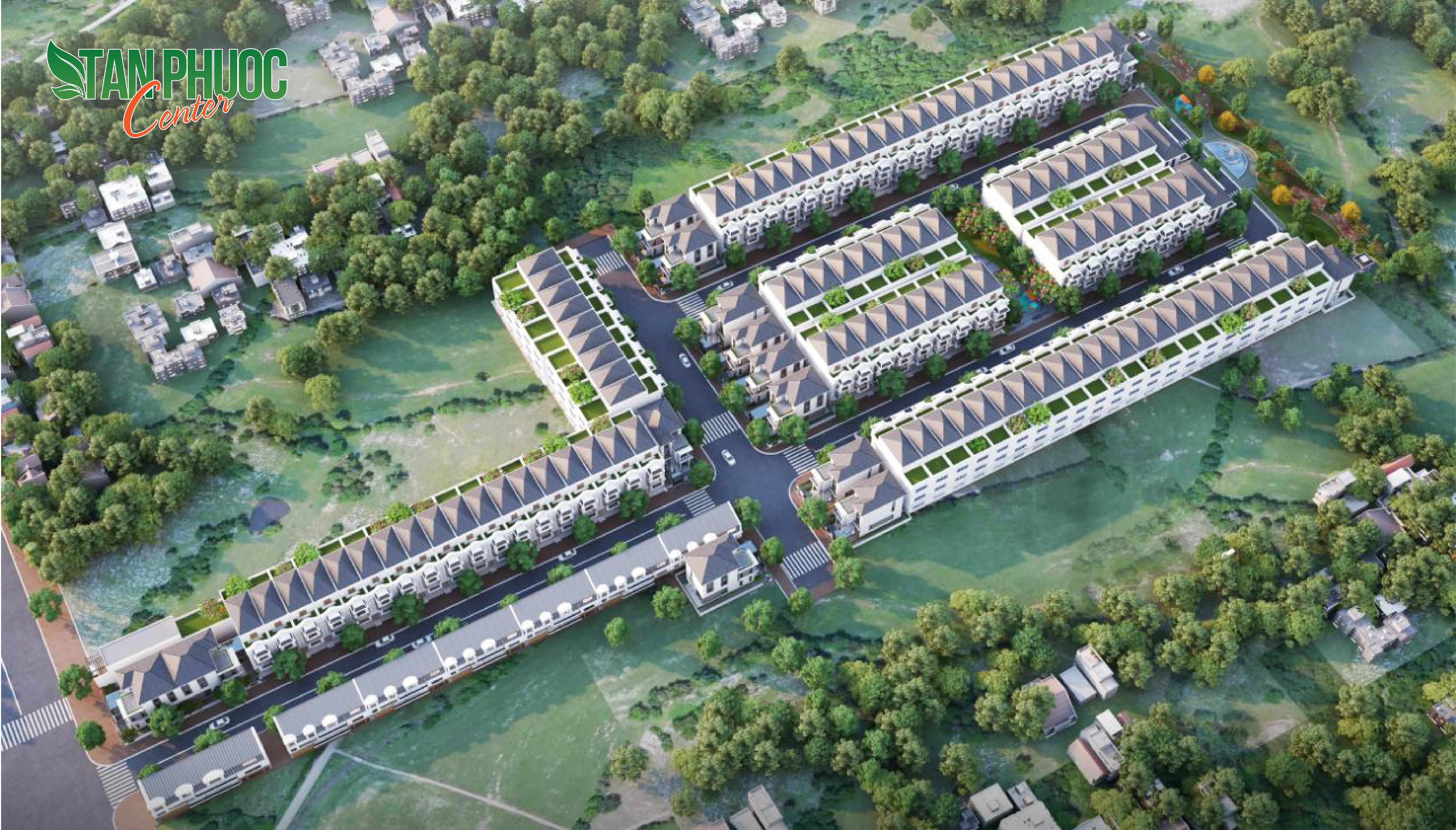 Tân Phước Center Đất Xanh – Đất Nền Sổ Đỏ Khu Dân Cư Kiểu Mẫu
