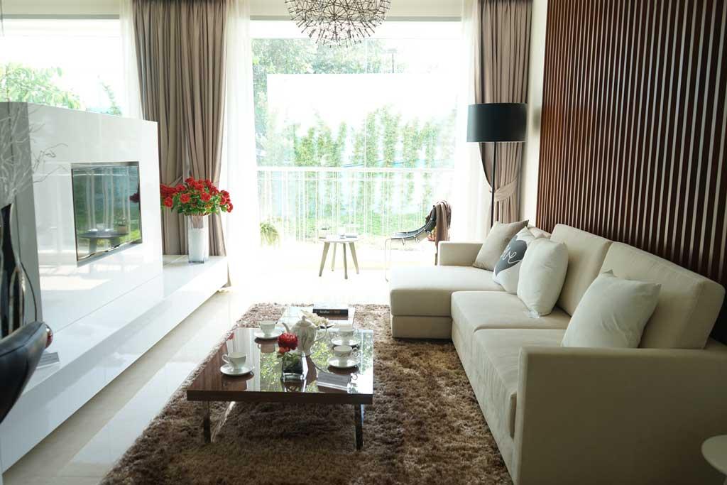 Phòng khách căn hộ Opal 3 Phòng ngủ